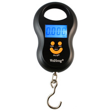 10-45kg Portable Temperature Sensor Function Hanging Hook Fishing Digital Scale(China)
