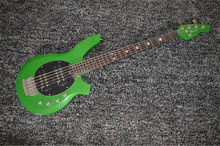 BEST 4 strings musicman bass guitar green bongo with maple fretboard Free shipping(China)