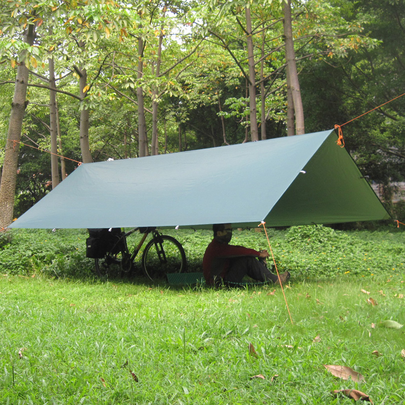 3F UL Silver Coating Anti UV Ultralight Sun Shelter Beach Tent Pergola Awning Canopy 210T Taffeta Tarp Camping 18Hanging Points<br>