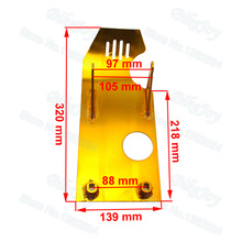 Gold Engine Base Skid Plate For Lifan YX 50cc 70cc 90cc 110cc 125cc 140cc Dirt Pit Bike(China)