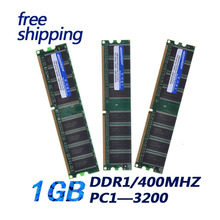 Promotion+Free shipping Memory Ram DDR1 1G 400Mhz 1GB PC 3200 +memoria ram for desktop full compatible computer