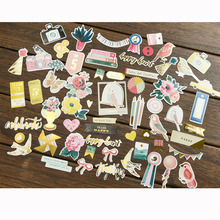 50pc Think Happy Cardstock Die Cuts for Scrapbooking Happy Planner/Card Making/Journaling Project