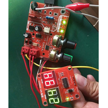 100A Time Current Controller Control Panel Board Spot Welding Machine Adjust Time and Current Module with LED Digital Display