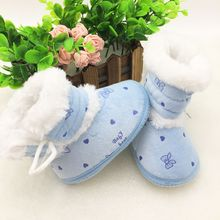 Kids Baby Shoes Toddler Plush Boots Winter Girl Plush Warm Newborn Boots Best Seller scarpe inverno neonata(China)