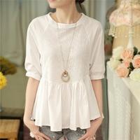 new-fashion-Preppy-Style-women-girls-cotton-short-lantern-Sleeve-O-Neck-white-spring-summer-shirts.jpg_200x200
