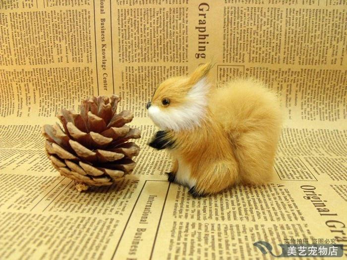 simulation squirrel toy model handicraft,plastic&amp; fur,mini 9x8cm ,prop, home decoration toy Xmas gift w5907<br><br>Aliexpress