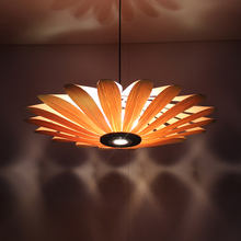 Bamboo Southeast Asian Chinese restaurant LED lamp wood engineering ceiling wooden lamp light Hotel Pendant Lights za