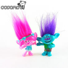 2pcs/lot Trolls figures poppy Branch action figure toy set 2017 New Movie Trolls figurine bobby doll birthday party oyuncak gift
