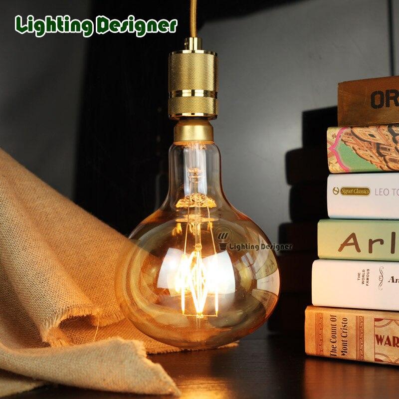 R160 big size edison bulb e27 Retro vintage lamp LED bulb light 6W 220V E27 pendant lamp drop light commercial lighting lamp<br>