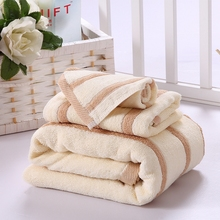 100% cotton towel set(square towel/30g terry towel/90g bath towel/350g)soft comfortable handmade stripe patterned brief style