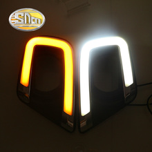 SNCN LED Daytime Running Light For Fiat Freemont 2014 2015 2016,Car Accessories Waterproof ABS 12V DRL Fog Lamp Decoration