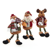 HENGHOME 1Pcs Retractable Doll Santa Claus/Snowman Desk Doll Toy Xmas Tree Christmas Decor Home Hanging Ornament Pendant Model(China)