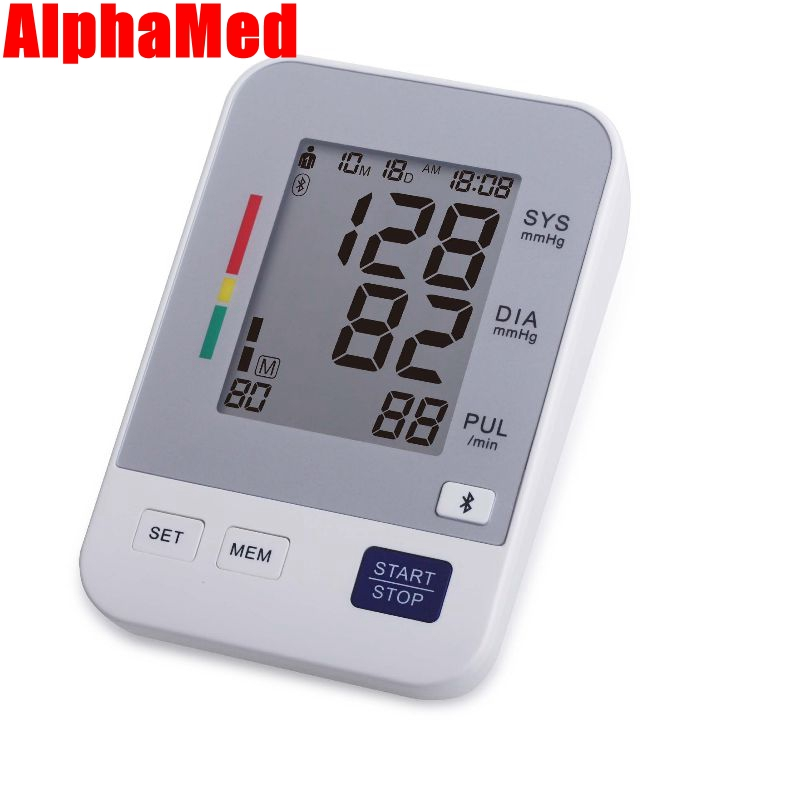 bluetooth Arm Blood Pressure Pulse Monitors tonometer Digital Upper health Monitors presion arterial meter sphygmomanometer care<br>