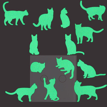 13pcs Cats on A Sheet Luminous Switch Sticker Decals for Kids Rooms Bedroom Decoration Glow in the Dark Home Decor Supplies(China)
