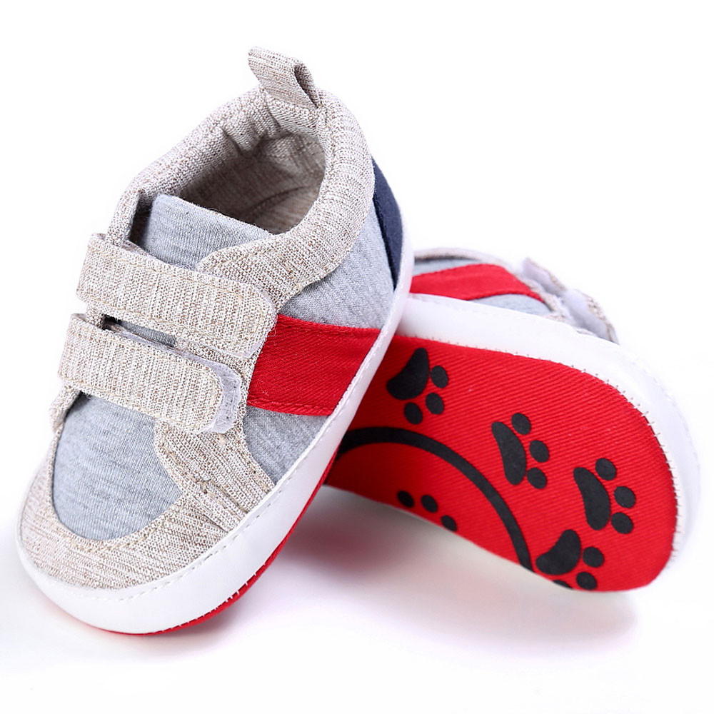 Baby sports shoes Boy Girl Newborn Crib Soft Sole Shoes Sneakers drop shipping baby boys shoes causal(China)