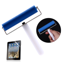 High Quality 10CM Soft Silicone Manual Cleaner Screen Film Dust Roller for Tablet Phone