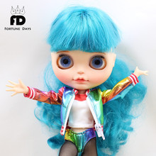 Free shipping icy blyth doll jecci five 1/6 30cm Harley Quinn underwear stocking coat cool suit