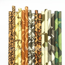 DHL Free Shipping 1000pcs Pick Colors Party Paper Straws,Colored Animal Print Camouflage Fun Paper Drinking Straws,Camo Birthday
