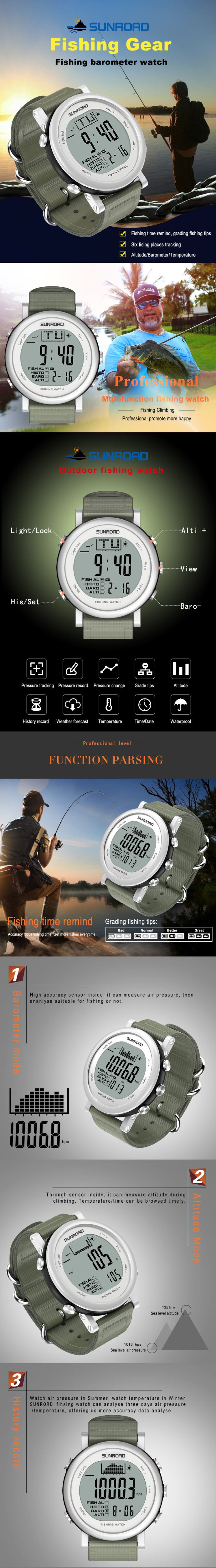 Photos of SUNROAD FR721 fishing barometer watch 001