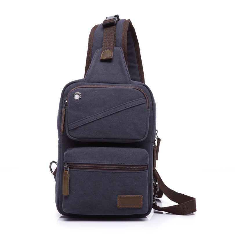 KAKA Casual Mens Messenger Sling Bag Male Bag Canvas Chest Pack for Boys High Quality Crossbody Bag for Men <br>