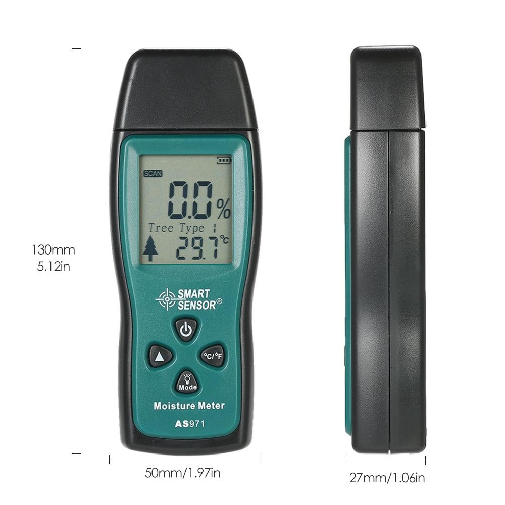 Symbol Der Marke Handheld Mini Holz Feuchtigkeit Meter Digital Lcd Holz Feuchten Meter Detektor Tester 2 Pin Sonde Bereich 2% ~ 70% Analysatoren
