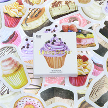 45 Pcs/lot Birthday Cake Mini Paper Sticker Decoration DIY Ablum Diary Scrapbooking Label Sticker Kawaii Stationery(China)