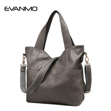 American Real Patchwork Soft Female Bag 2017 New Tide Genuine Leather Women Single Shoulder Hand Designer Handbags High Quality(China)
