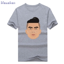 2017 Paulo Dybala cartoon face funny T-shirt Tees T SHIRT Men's 100% cotton for juventus fans gift 0429-12