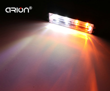 CIRION Amber White 18 Flash Modes 4 LED  Truck Emergency Strobe Flashing Warning Light Lights tractor led light bar car-styling