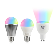 100% Original Mi Light 2.4G / WiFi Wireless Control RGB CW RGBWW LED lamp 4W 6W 9W GU10 E27 110V - 220V Dimmable Smart LED Bulb