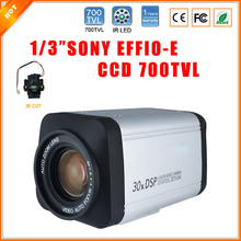 "1/3"" 700 TV Lines 30 X Zoom Sony Effio-e CCD 4140+673 700TVL Indoor CCTV Security Camera with IR-Cut Box Camera Surveillance"