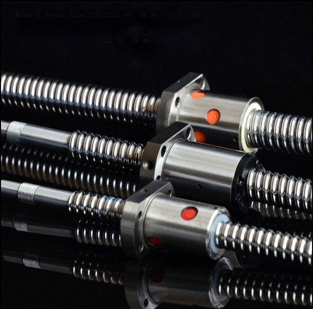 2pcs/Lot! SFU2005 Ballscrew Set : 2pcs Ball screw SFU2005 L700mm End Machined for BK15 BF15 +2pcs SFU2005 Ball Nut<br>