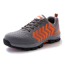 Air Mesh Men Work Safety Shoes Steel Toe Cap Puncture Proof Durable Breathable Protective Footwear(China)