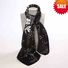 Korean Fashion Women Jacquard fabric scarf /Black and White color Classic silk scarves 90*90cm / Wholesale