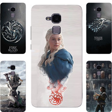 Fashion GOT Game Of Throne House Stark Targaryen Hard PC Painting Case For Huawei Honor 5C / 7 Lite / GT3 Cell Phone Printed Bag