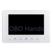 Free Shipping 7 inch TFT LCD Color Video Door Phone Intercom System Indoor Unit Monitor Without Outdoor Unit Camera(China)