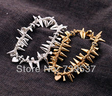 New Style Fashion Elastic Spike Bracelet(China)