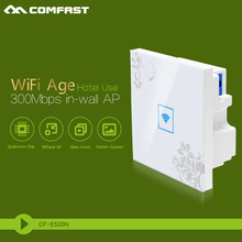 Clearance sale 300Mbps in Wall AP for hotel /home WiFi project, support PoE, VLAN and Access Controller System COMFAST CF-E520N