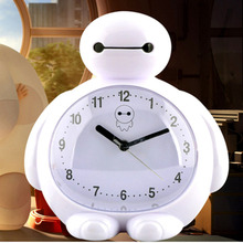 Big white alarm clock child chairpersons mute cartoon cute little alarm clock table Control LED display electronic desktop Digit(China)