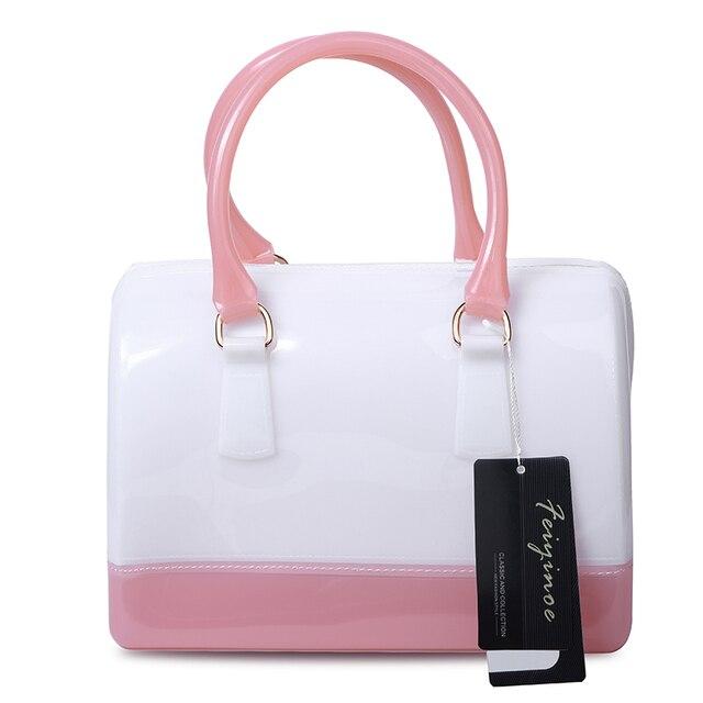 Women handbags leather bag new jelly candy pillow top handbag colorful bag 8