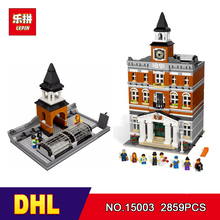 DHL Lepin 15003 2859PCS City Street The Town Hall Model Building Block Assembling Toys Kits compatible with 10224(China)