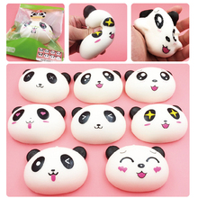 New Arrived 10cm Jumbo Panda Squishy Charms Kawaii Buns Bread Cell Phone Key/Bag Strap Pendant Squishes 3.5mm dust Plug