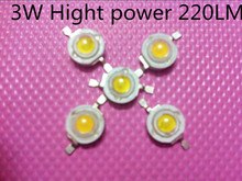 Freeshipping! 200PCS/LOT wholesale LED 3W Chip hight power 250lm White/Warm White cold white 45* 45MLI  Led 3W chip good quality