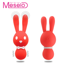 Buy Meselo 10 Modes Rabbit Vibrator Strong Vibrating Women Vagina Clitoral Silicone Mini G-spot Vibrator Erotic Sex Toys Woman
