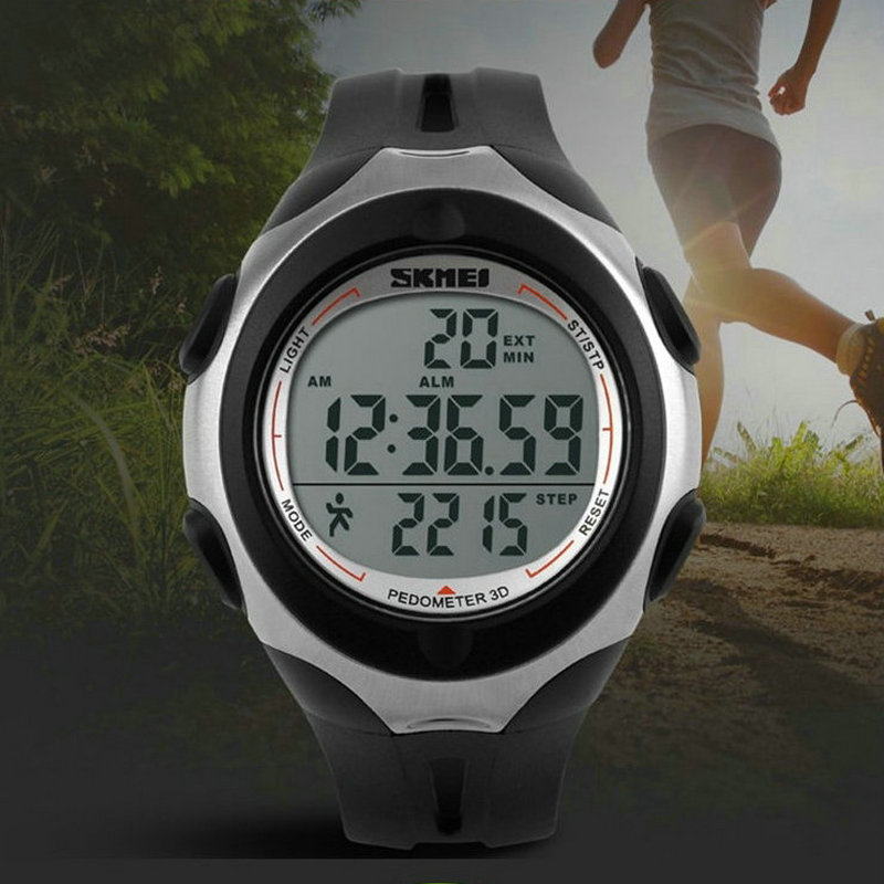 Clearance unisex simple 3d pedometer health sports Digital LED Electronics waterproof Children Boy Girl Student Wristwatches<br><br>Aliexpress