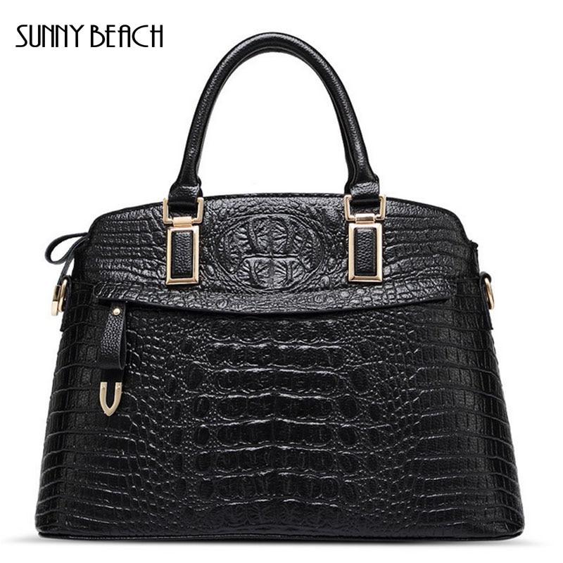 SUNNY BEACH brand New Women Handbag Crocodile pattern high Quality Women messenger bags  women famous brand designer bag <br>