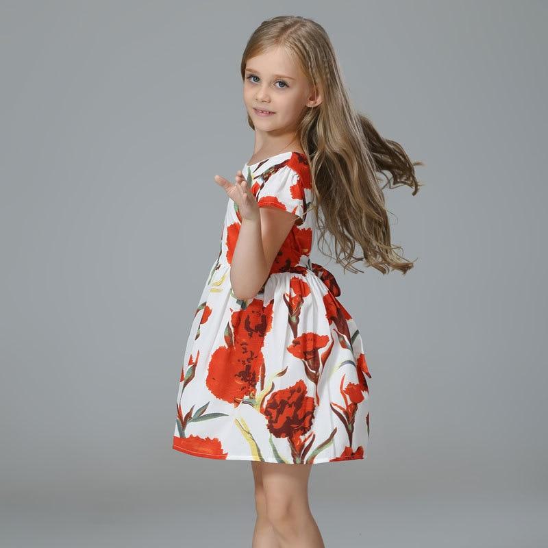 Girls Dress Princess Costume 2017 Brand Kids Dresses for Girls Clothes Poppy Floral Baby Girl Dress Children<br><br>Aliexpress