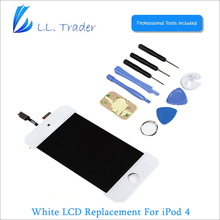 LL TRADER White Quality AAA LCD Display For iPod Touch 4 4G 4th Touch Screen Digitizer Assembly Replacemnet +Tools free shipping