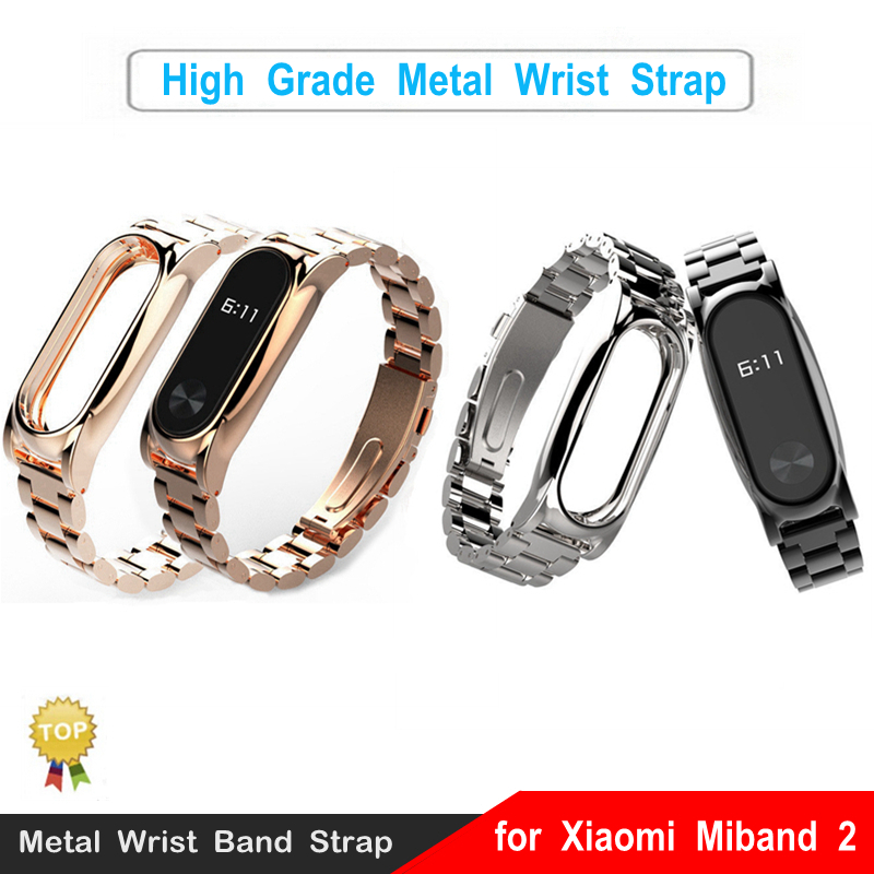 Metal Wrist Strap Xiaomi Miband 2 Smart Wristband Watch Bracelet Replacement Watch Belt Smart Band Accessories Mi Band 2