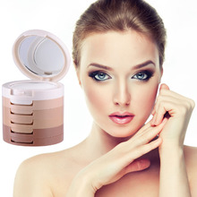 1 Units Professional Face Concealer Oil-control cosmetic Box 5 Colors Foundation Pressed Powder Facial Makeup Beauty Kits(China)